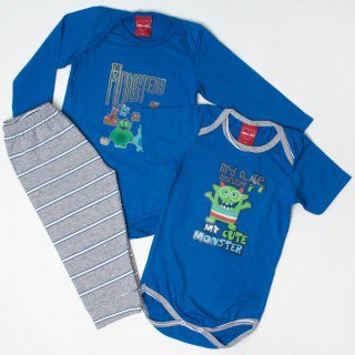 kit body infantil de menino monstrinho moda love 1