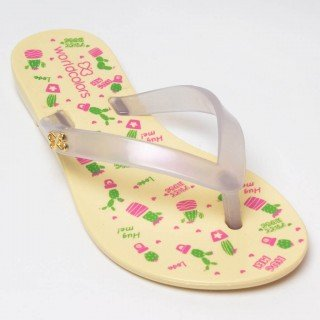 chinelo infantil feminino cactos world colors 3