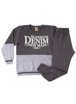 conjunto infantil masculino denim time kids 8
