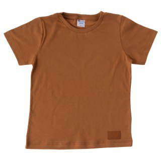 camiseta infantil masculina lisa marrom pirata kids