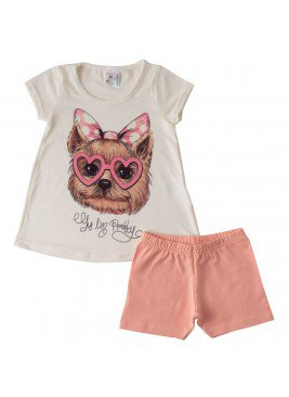 conjunto infantil feminino york natural india baby