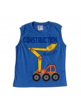 camiseta infantil masculina construction royal india baby