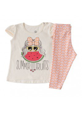 conjunto bebe feminino fruits natural ralakids