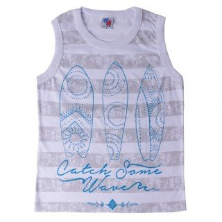 camiseta infantil masculina catch some branco hdu