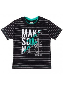 camiseta infantil masculino some preto costao mini