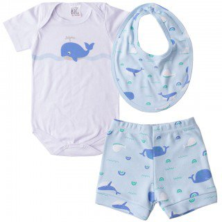kit body de bebe infantil masculino mar barnco pequeno big amor 4