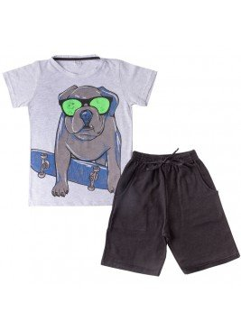 conjunto juvenil masculino dog mescla good boy